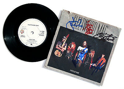 """FLEETWOOD MAC signed 7"""" single vinyl 'HOLD ME' by 5 band members"""