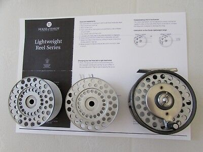 V good vintage rare hardy zenith multiplier salmon fly fishing reel 2 spool etc