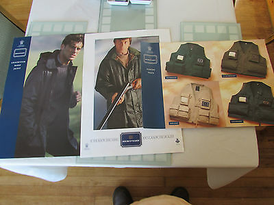 3 vintage hardy alnwick clothing shooting hunting fishing poster advert 4
