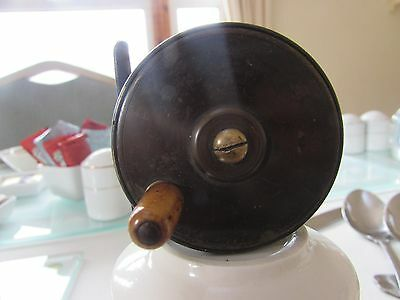 """Vintage brass Slater trade  supply platewind trout fly fishing reel 2+ 3/8ths"""""""