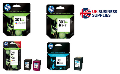 Genuine HP 301XL Ink Cartridges all Variations & Xerox 80g A4 paper Deal