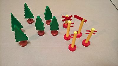 Accessory Set Trees Signs Brio 31405 / 18 Vintage Holzeisenbahn Wooden Railway