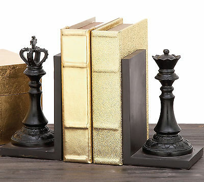 Urban Designs Decorative Chess King and Queen Book Ends Set of 2