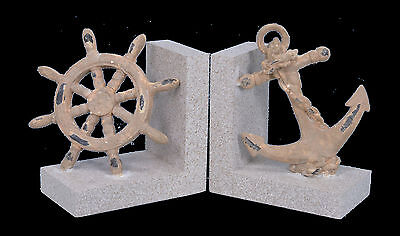 """Breakwater Bay 5.5"""" Anchor and Wheel Book End Set 2 Set of 2"""