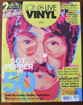 Long Live Vinyl Magazine..issue 4..july 2017.lennon..beatles..fleetwood Mac