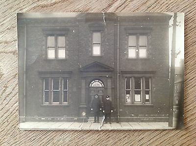 Photo Police Station & policemen Dacre Street Middlesbrough larger than postcard