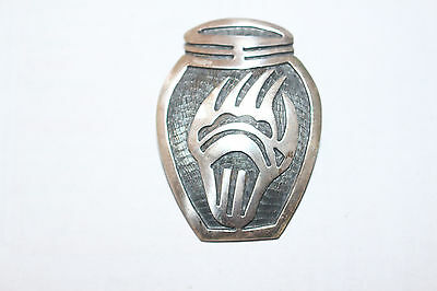 HOPI Sterling Silver Pin Bear Claw Stamped Stearling