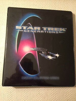1994 STAR TREK GENERATIONS CINEMA COLLECTION CARD BINDER with SET