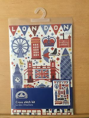 DMC London Attractions Cross Stitch Embroidery Kit Rrp £26.99