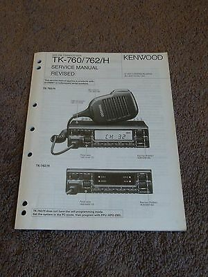 Kenwood TK-760 TK-762 H Service Repair Manual VHF FM Transceiver TK 760 762 H