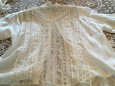 Lace blouse about 1910.  Imperfections but the look is wonderful for a dress for