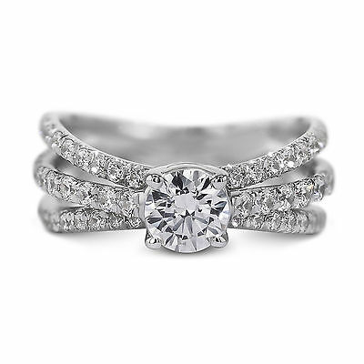 18K White Gold Ring Natural Certified Diamond 1.69 Carat Round Brilliant D SI1