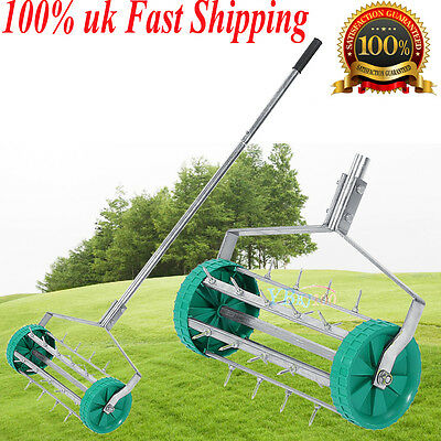 Rolling Grass Garden Lawn Aerator Roller Aluminium Handle Power Durable Material