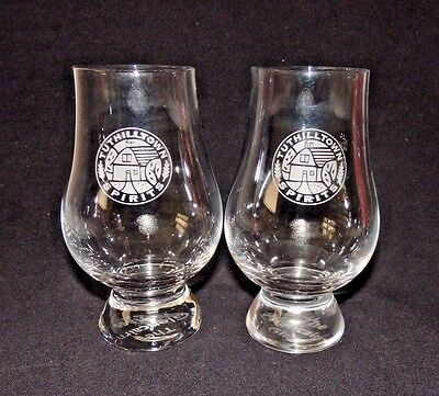 2 Rare Glencairn Whiskey Nosing Glasses Tuthilltown Spirits New York Hudson Rye
