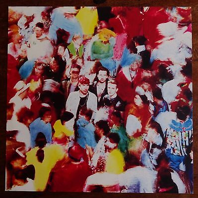 """U2 Achtung Baby (1991 Record Company 12"""" x 12"""" Promo Shop Display Poster)"""