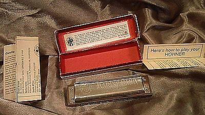 Vintage M. Hohner Marine Band Harmonica Key of C Made in Germany NO. 1896 - A440
