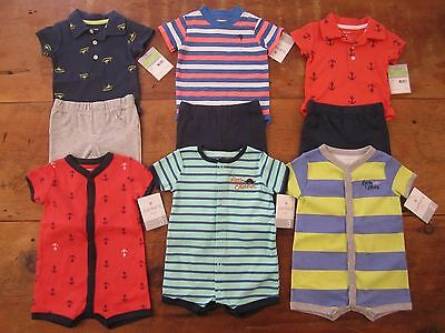 Lot baby boys 3 months Carters NWT outfits & one-pieces nautical spring summer