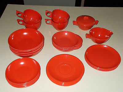 "26 pc Spaulding Ware Melmac Dishes ~ ""The Completers in Red""! ~ NICE!"