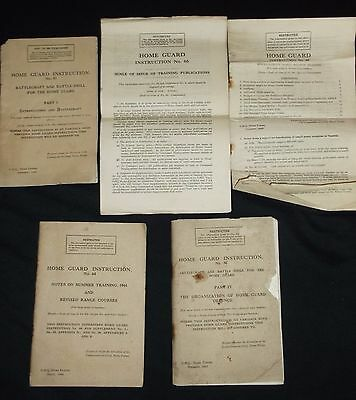 WW2 British Home Guard training manuals/booklets