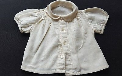 Vintage Handmade Smocked Traditional flannelette Top  Baby 6-9 Months