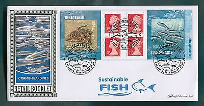 "2014 Sustainable Fish Retail Booklet Pane : Benham ""Official""  BLCS 605"