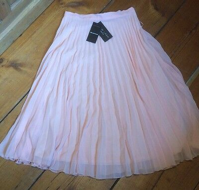 Pleated Skirt Pale Pink Brand New Size 6 Petite