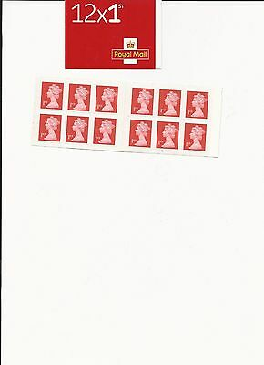 NEW - Royal Mail Stamps 1st Class  - Book Of 12