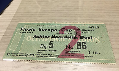 Ticket Final European Cup Champions League 1962 - Benfica Real Madrid