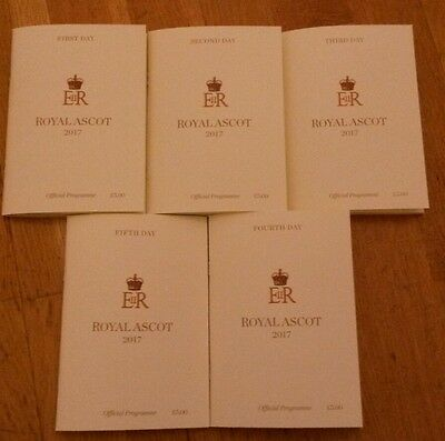 Royal Ascot 2017 Racecards All Five days mint