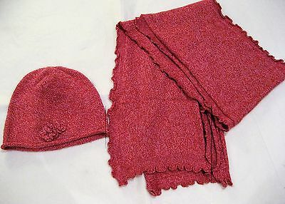 Petit BATEAU Girls Pink Hat and Scarf Set 6-7-8y