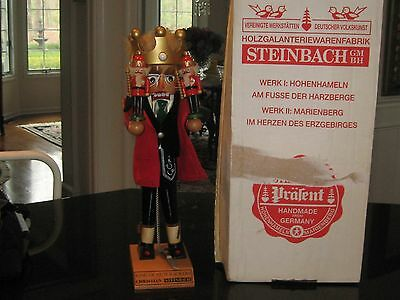 """Steinbach S880 18"""" KING OF THE  NutcrackerS  WITH THE ORIGINAL BOX"""
