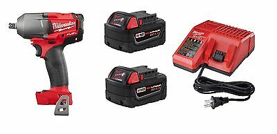"Milwaukee 2860-20 M18 FUEL 1/2"" Pin Detent Impact Wrench KIT w/ 5.0AH & Charger"