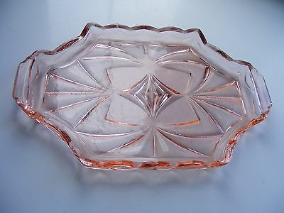 Vintage Pink Glass Dressing Table Tray