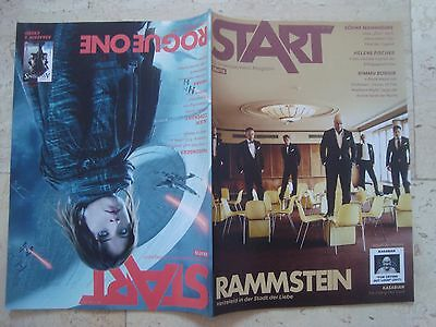 RAMMSTEIN Rouge one A STAR WARS STORY Felicity Jones RARE double cover magazine