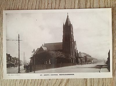 Postcard st Johns Church Middlesbrough  by RSK RP