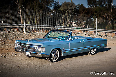 1967 Chrysler Imperial Crown Convertible Rust Free Low miles Clean Car Great Driver 440 Auto Luxury