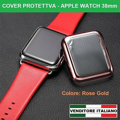 COVER protettiva per APPLE WATCH 38mm ROSE GOLD in pellicola hard case display