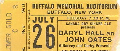 Hall and Oates 1983 H2O Tour Concert Buffalo New York Ticket Stub