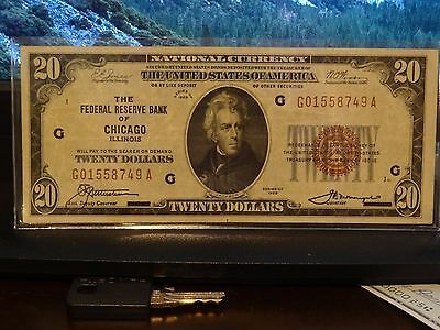 1929 $20 Bill - Federal Reserve Bank of Chicago