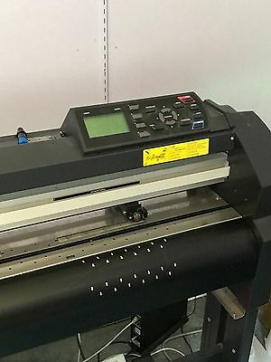 "GRAPHTEC VINYL EXPRESS Q42 42"" Plotter Vinyl Cutter W/ARMS CONTOUR CUTTING USED"