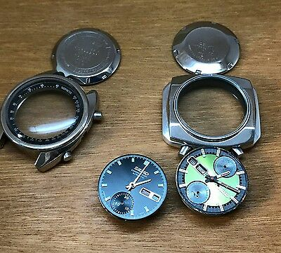 2x Vintage seiko chronograph 6139 and citizen 8110 gents automatic watches