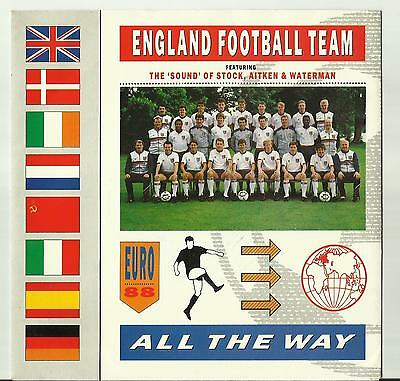 England - All The Way - 45 rpm Record - Euro 88