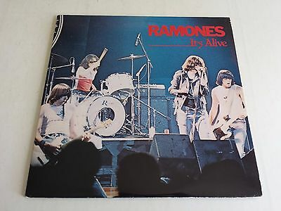 Ramones It's Alive Lp Double Album 1979 Sire Records Srk2 6074 Uk 1St Press