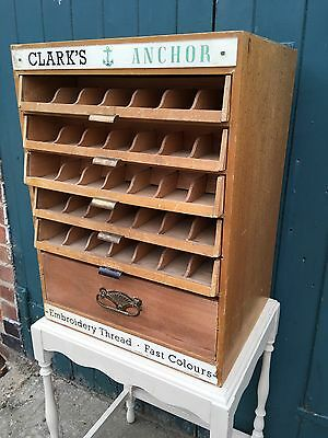 Shop Display Clark's Anchor Haberdashery Embroidery Cabinet Drawers Chest