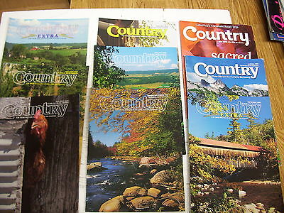 Lot Of 9  Country Magazines
