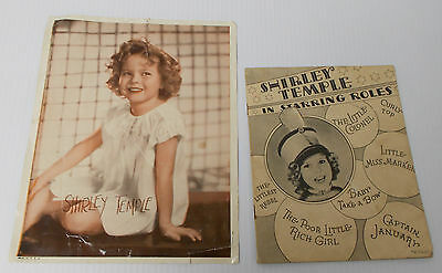 1936 Saalfield Booklet SHIRLEY TEMPLE in Starring Roles + Old Photo