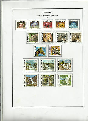 ZIMBABWE 1980 Definitives Complete Fine/Used .