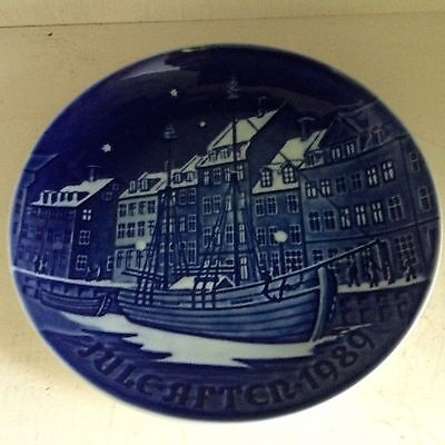 Bing & Grondahl 1989 Christmas Plate Delft Blue Jule-After Excellent Condition