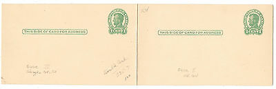 1917 US Postal Stationery Card 1c Lincoln UX28 Double Card Unused Folded