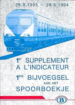 Indicateur Officiel ( Spoorboekje )    26.9.1993- 28.5.1994    Nmbs  Sncb